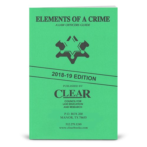 Elements of A Crime - book cover - 2018 edition