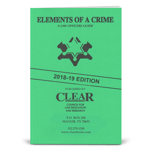 elements of a crime clear books